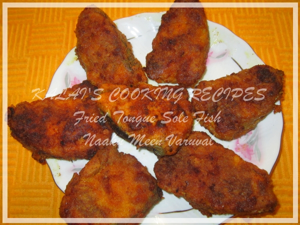 Soft Fried Tongue Sole Fish / Naaku Meen Varuval