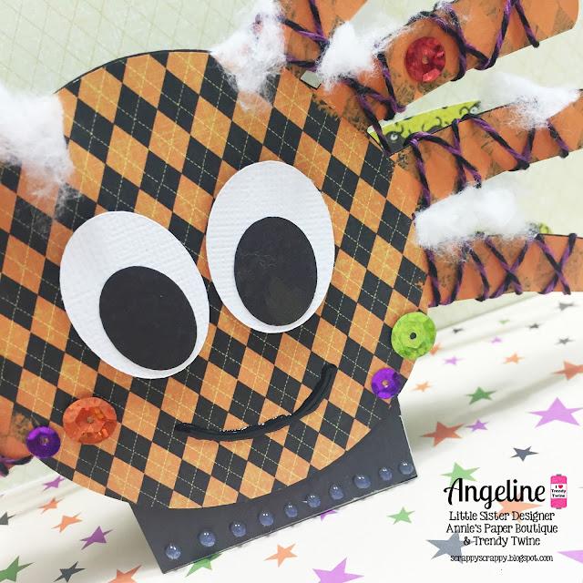ScrappyScrappy: Spooky Halloween Spider #scrappyscrappy #trendytwine #thecuttingcafe #twine #svg #cutfile #halloween #treatbox