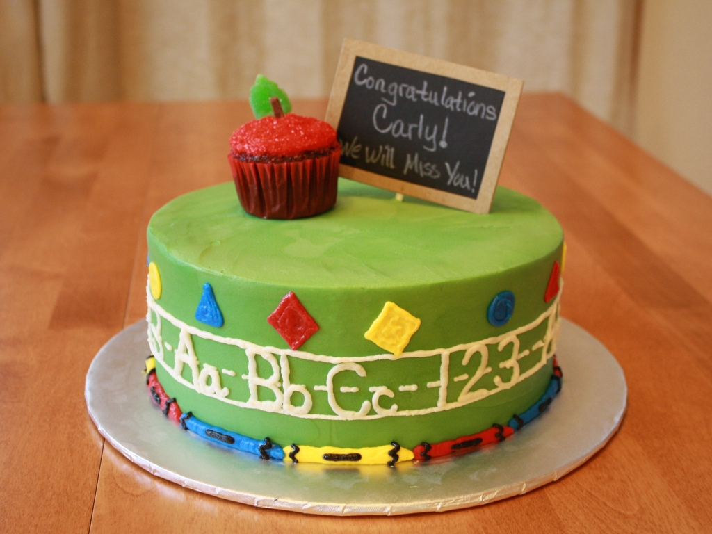 Best Cake Design Schools : Party Cakes: Back to School Cake