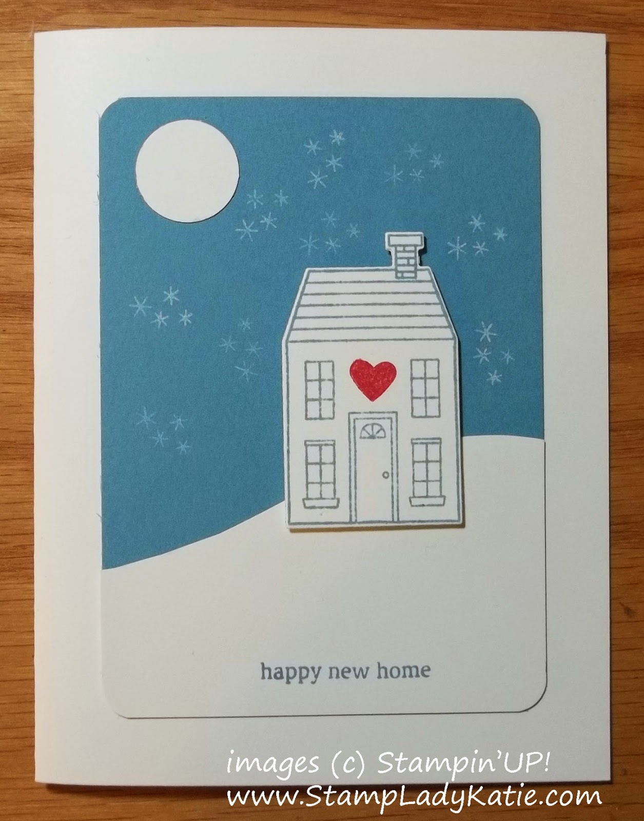 Card made with the Holiday Home Stamps and Framelits.