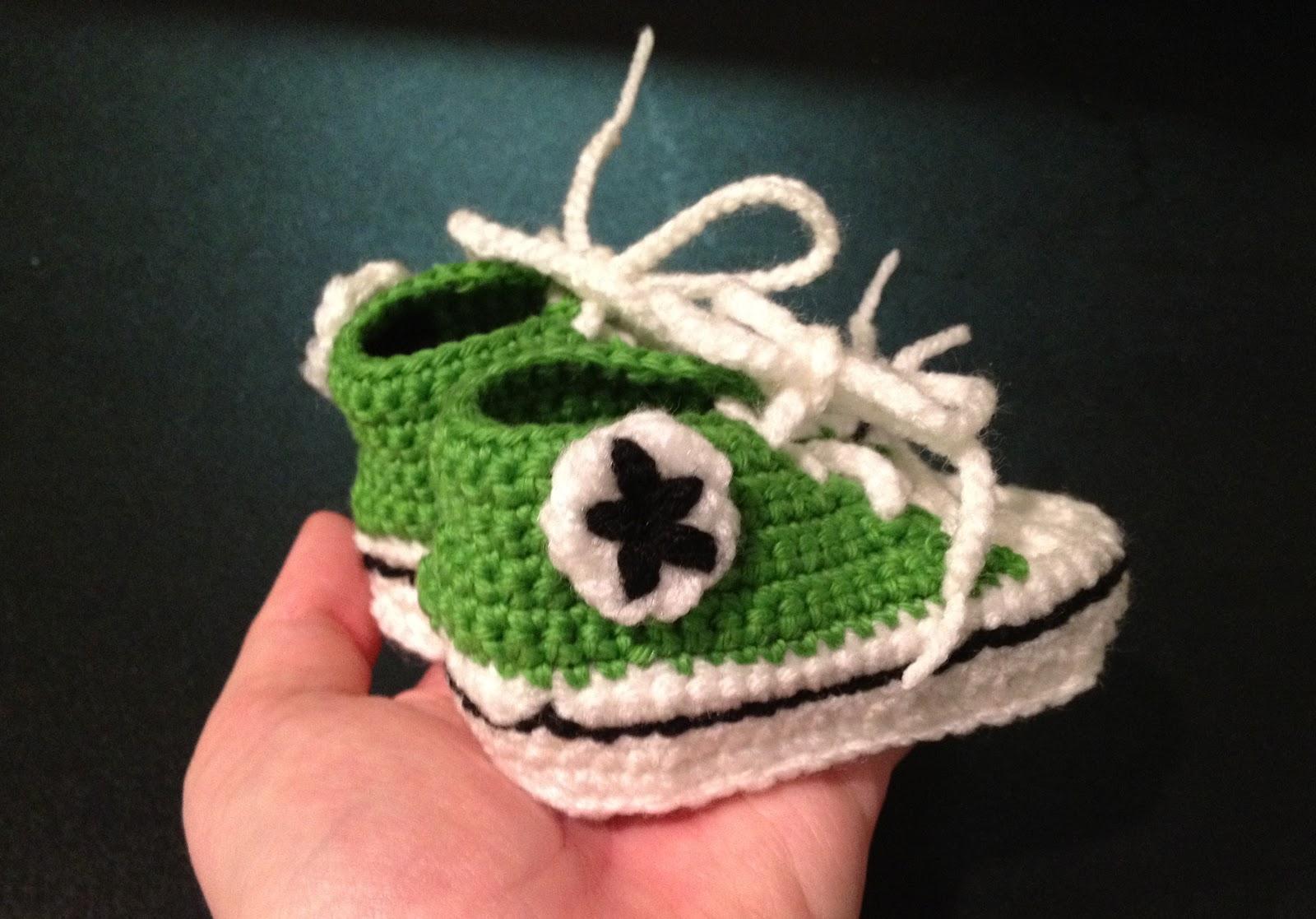 Crochet Converse Slippers Pattern