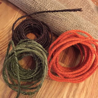 Colorful fall twine wire