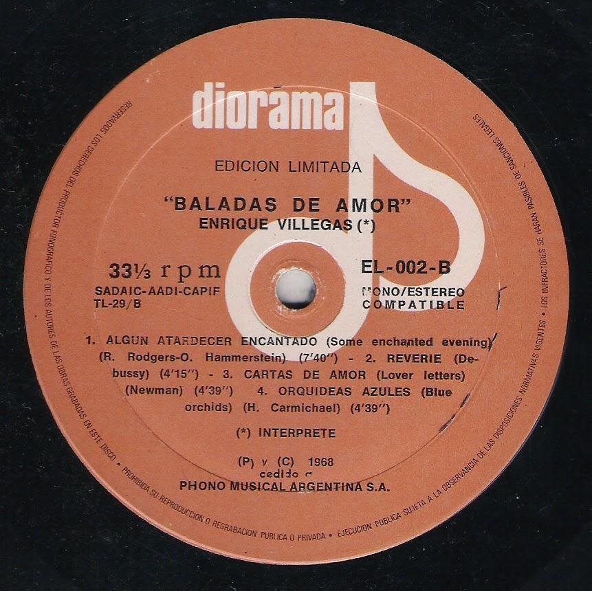 Enrique Villegas - Baladas de amor (1968)