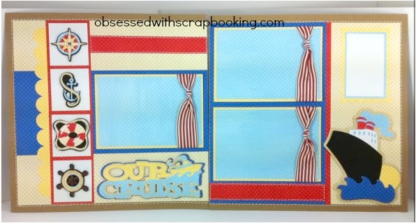 Obsessed With Scrapbooking Cricut Pack Your Bags Cruise Layout 2