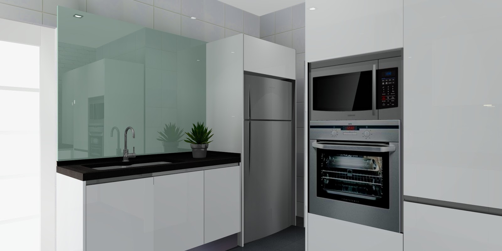 Meridian interior design and kitchen design in kuala for Kitchen cabinets for less