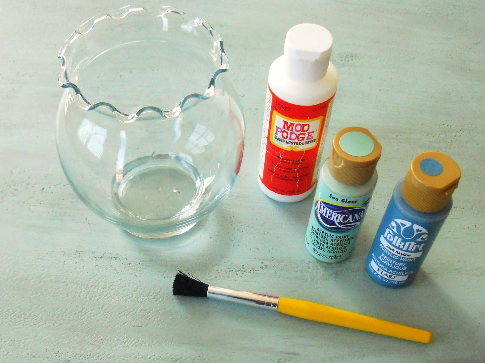 Diy enamel painted glass delightfully noted for Can i paint glass with acrylic paint