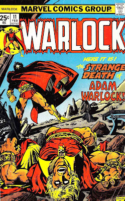 Warlock v1 #11 marvel 1970s bronze age comic book cover art by Jim Starlin