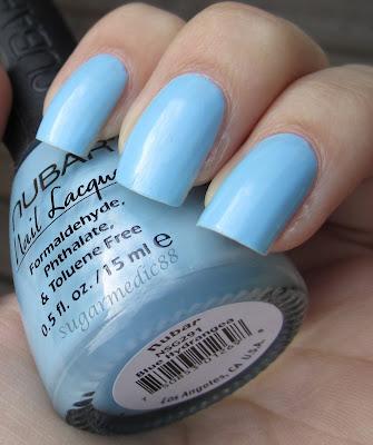 Nubar Blue Hydrangea Swatch
