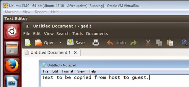 Cách dùng lệnh Copy và Paste giữa máy ảo trong VirtualBox và máy tính