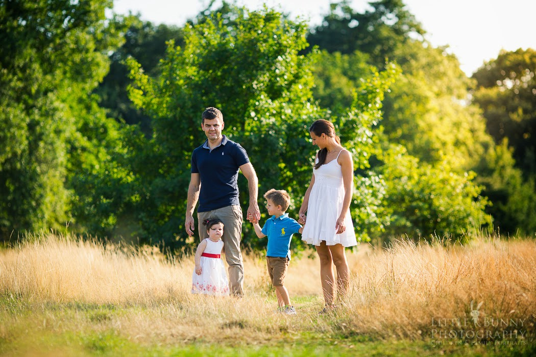 Family photo shoot in East London