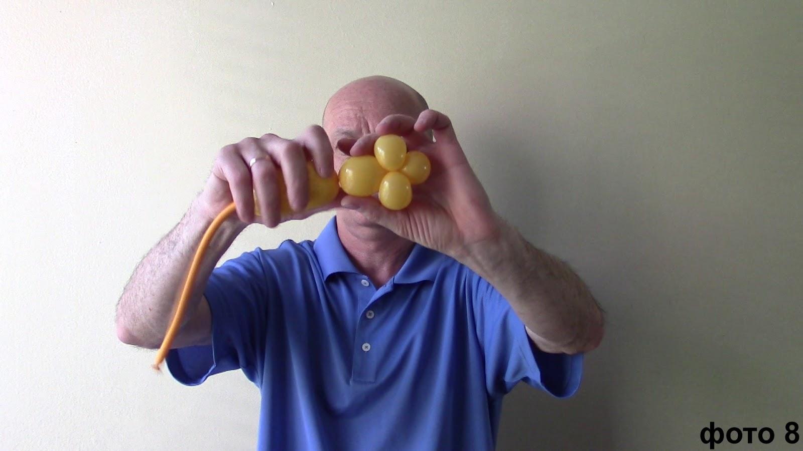 Как сделать стебель для цветка из шариков 85