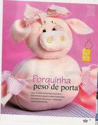 Moldes peso para porta de porquinha