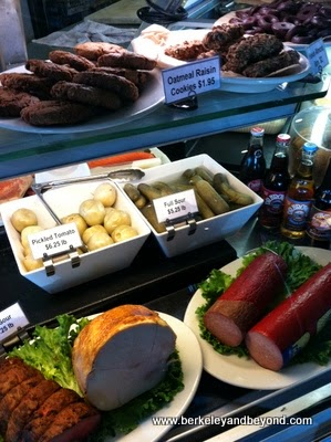 deli case at Saul's Restaurant & Deli in Berkeley, California