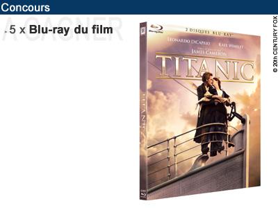 concours 5x blu ray du film titanic gagner deep blu ray dvd games. Black Bedroom Furniture Sets. Home Design Ideas
