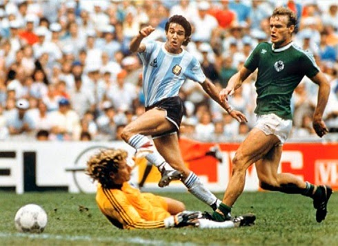 Gol do título argentino, de Jorge Burruchaga, final copa do mundo 1986