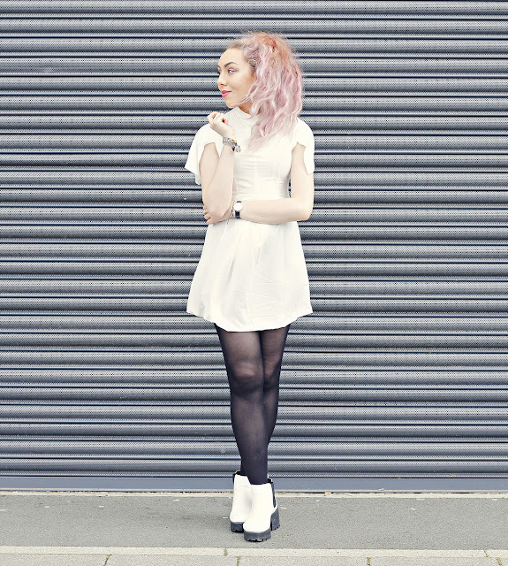 WalkTrendy Dress, Daniel Wellington Watch and SpyLoveBuy Boots by Stephi LaReine