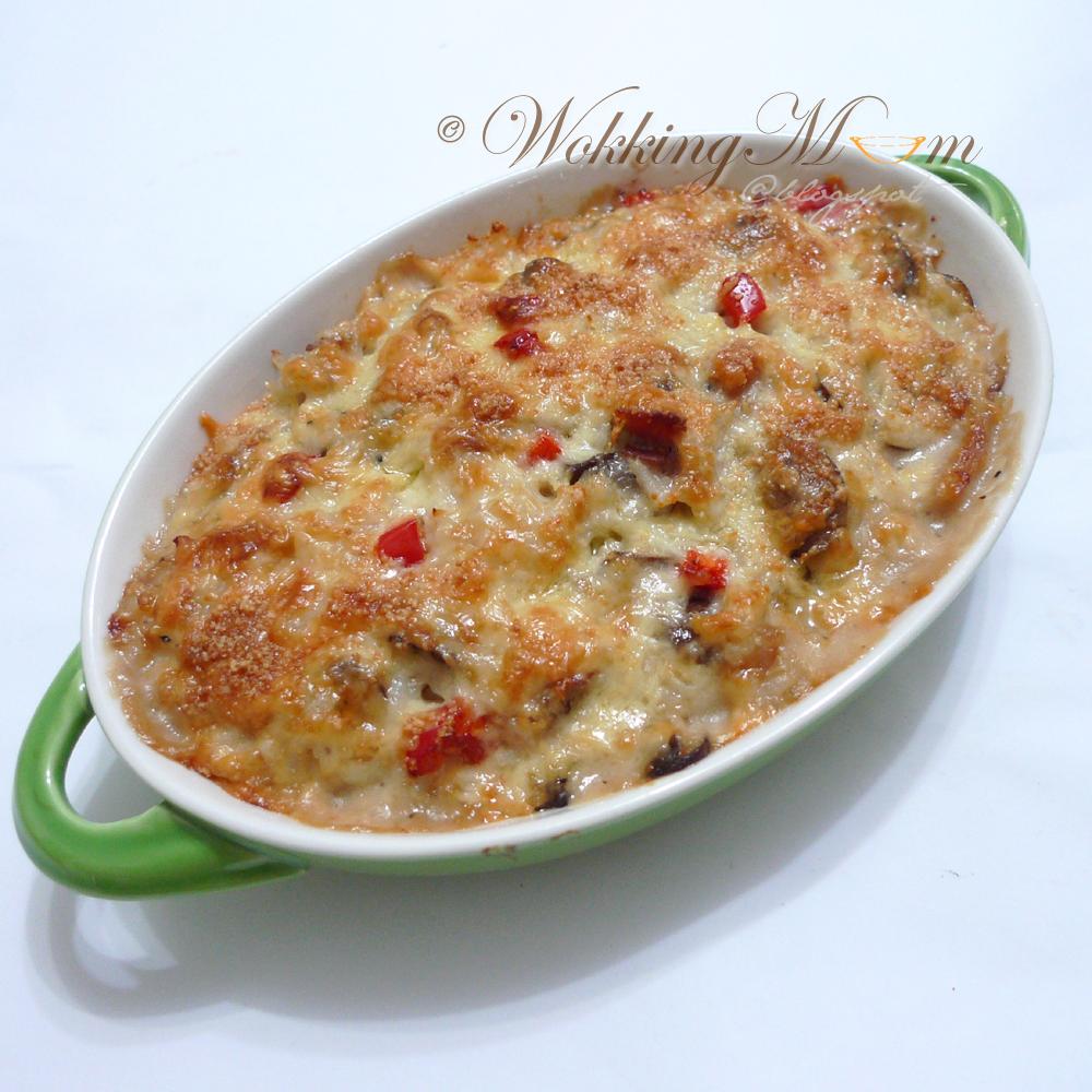 Cheesy Baked Rice Recipe — Dishmaps