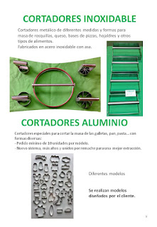 cortadores inoxidables y en aluminio.