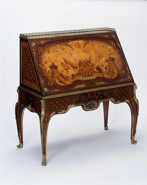 Riesener, Jean-Henri (possibly, made by),  Oeben, Jean-François (probably, designer) This table top was delivered to the Petit Trianon, Versailles in 1776 for the use of Marie Antoinette in her study
