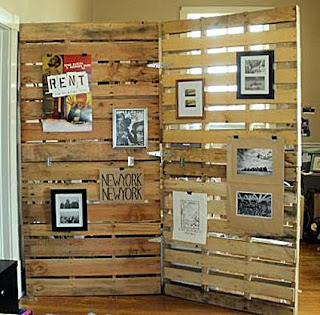 Screens made with pallets