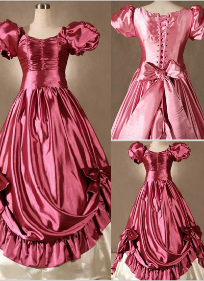 Fabulous Puff Sleeves Bow Gothic Victorian Dress