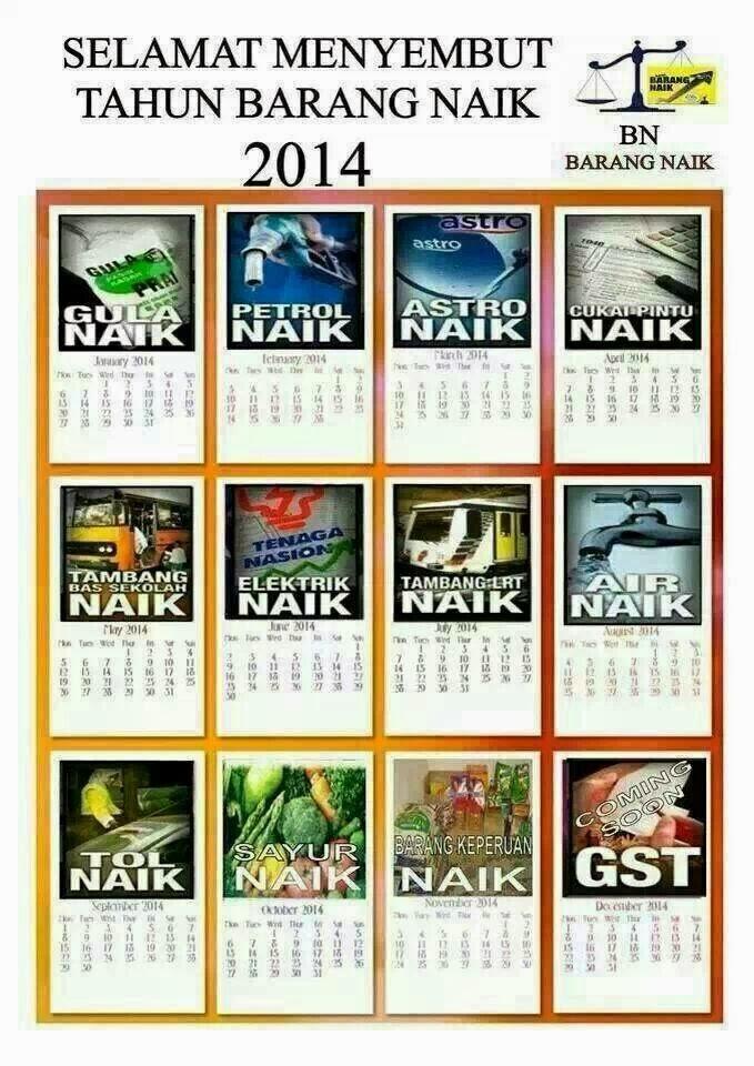 Barang Naik Calendar 2014