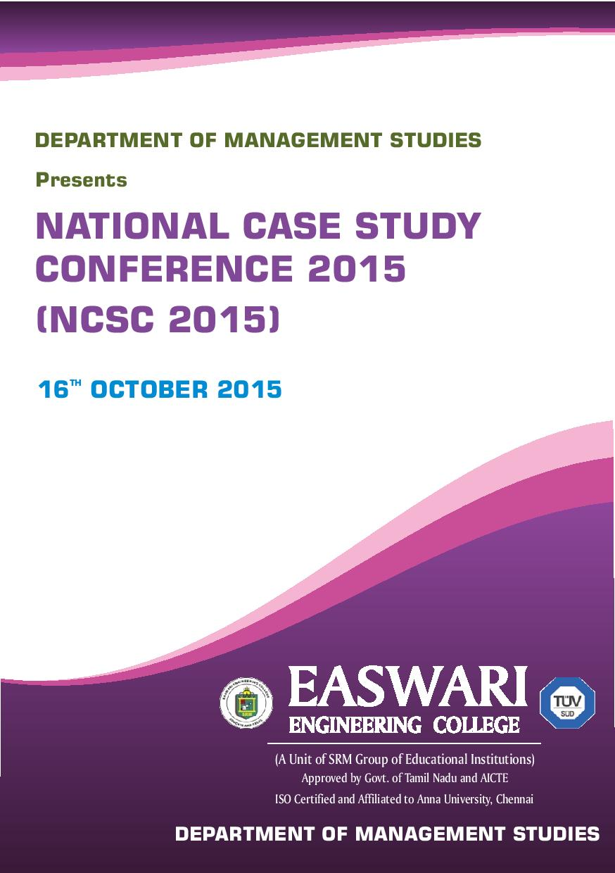 International Case Study Conference 2015 | ICSC 2015 | ICSC2015