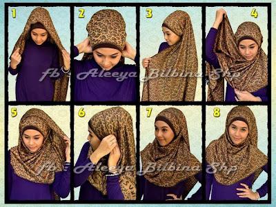 Cara Memakai Jilbab Pashmina Basic Style 2