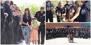 Ratusan Polisi Iringi Kelulusan Gadis Kecil karena Ayahnya Gugur Saat Bertugas