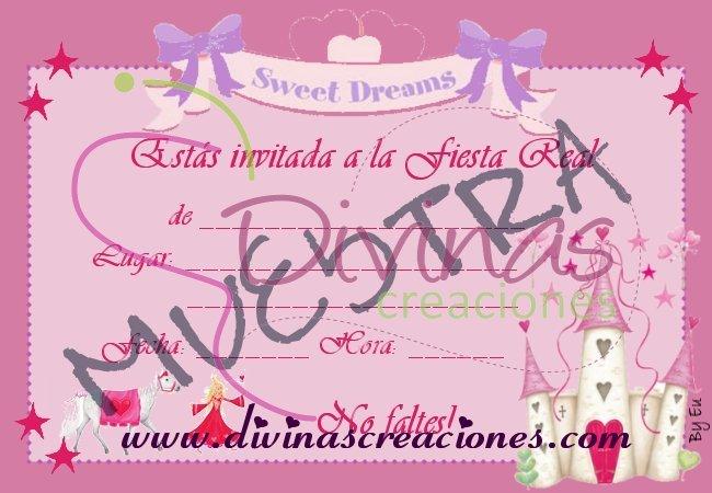 Invitaci  N Castillo Y Princesa