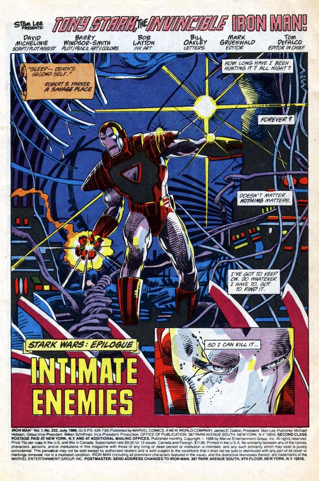 Marvel Comics of the 1980s: 1988 - Anatomy of a Splash Page - Iron ...