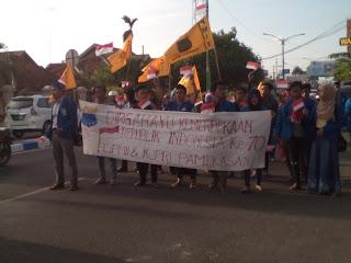 Refleksi Hari Kemerdekaan RI, PMII Pamekasan Gelar Aksi Teatrikal