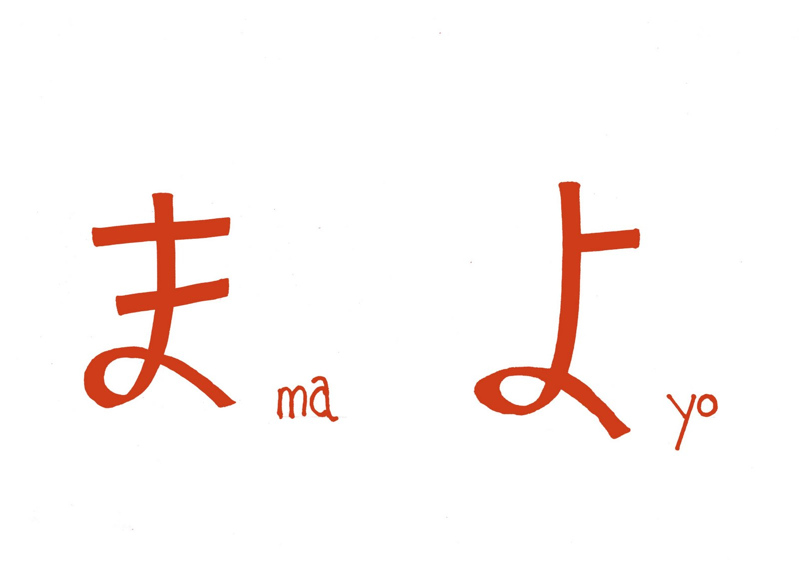 My sketchblog learning japanese hiragana ma and yo learning japanese hiragana ma and yo buycottarizona Images