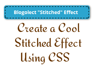 Create a Basic Stitched Effect Using CSS