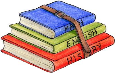 matematicas, historia e ingles en libros