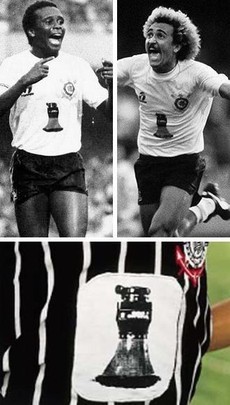 Corinthians com a camisa chuveirinho