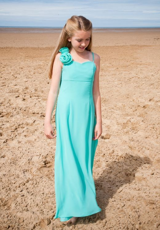 junior bridesmaid dress chiffon