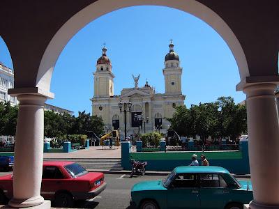 Santiago de Cuba view of cathedral