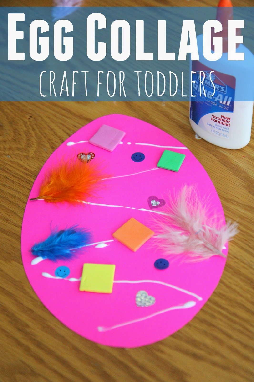Our Easter Egg Collage Craft Is Super Easy For Toddlers On Up I Even Like To Make My Own Sitting Next The Kids Because They Are So Fun