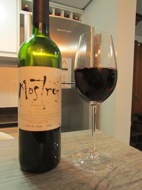 vinho, tinto, Nostros, Cabernet Sauvignon