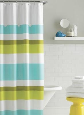 Textiles para la decoracion del ba o construya f cil - Cortinas de bano transparentes ...