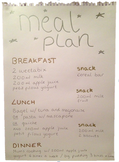 Eating Disorders Recovery Blog: My Meal Plan