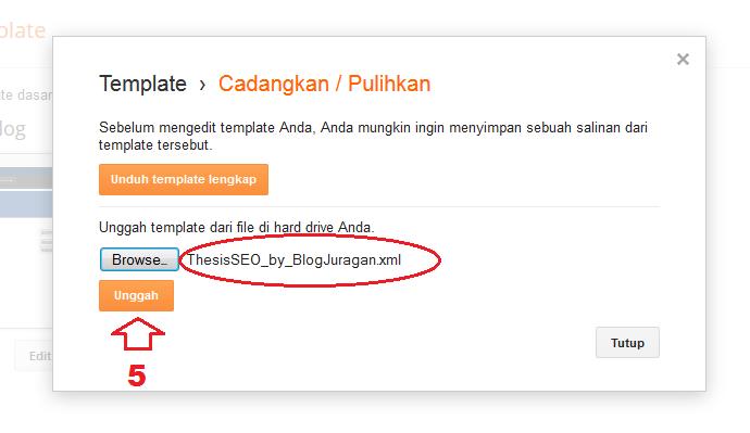 Cara Mengganti Template Blog Dari Hasil Download