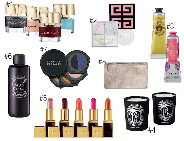 Smith and Cult Nail Lacquer Polish Givenchy Prisme Libre Powder L'Occitane Vanilla Bouquet Arlésienne Velvet Hand Cream Diptyque Tomas Maier Candle PB Palm Beach OMH Old Montauk Highway WDR West Distract Road Tom Ford Lips and Boys Lip Color Lipstick Collection Holiday Winter Mun Skin Beauty No.11 Anarose Rejuvenating Rose Toner Le Métier de Beauté Obsidian Odyssey Eyeshadow Kaleidoscope Truffle Metallic Privacy Clutch Limited Edition