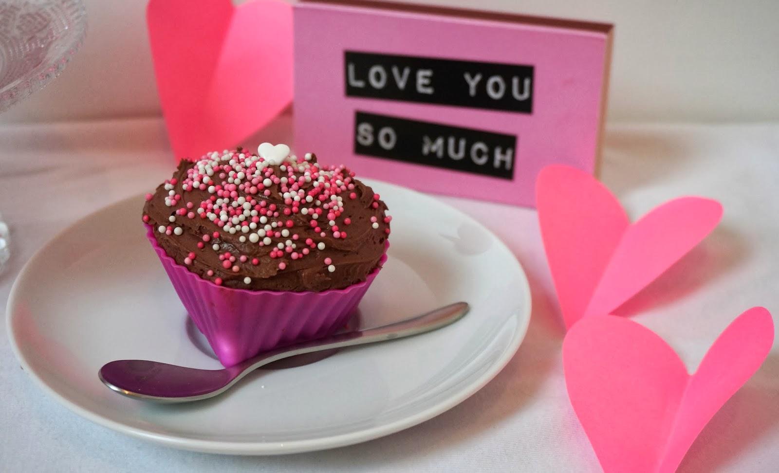 Valentinstag Cupcakes in Herzform Silikonform pink
