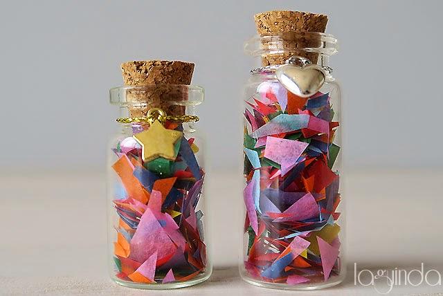 botellas vidrio cristal tapón corcho arroz bodas