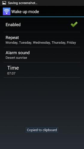 Menkind wifi iKettle Alarm and wake up mode settings