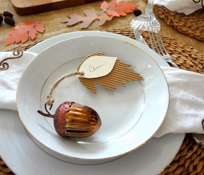 corrugated Leaf Place Cards DIY