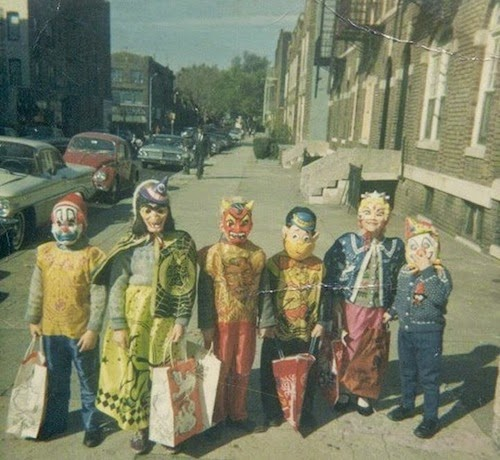 halloween vintage photo enfants