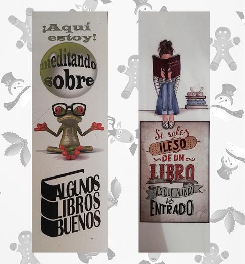 Regalo de Francisco Moroz. Dos preciosos marcapáginas diseñados por él mismo.